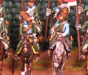 15mm, Napoleonic French Line Lancers AB 12 figures